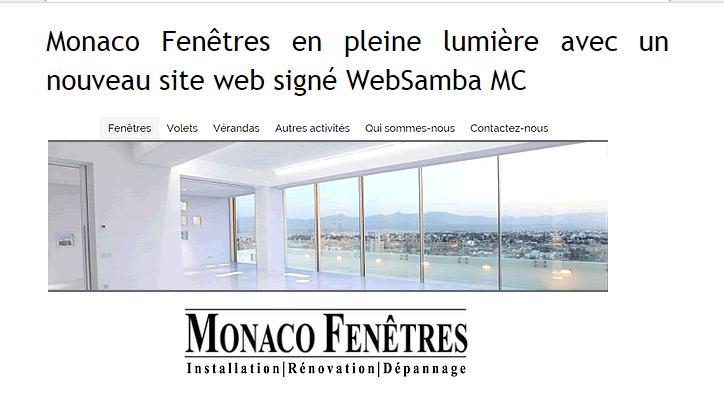 Monaco Fenêtres en pleine lumière avec un nouveau site web signé WebSamba MC